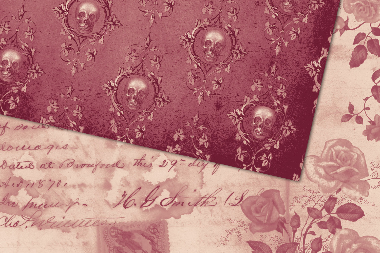 Warm October Textures - Vintage Digital Paper example image 2