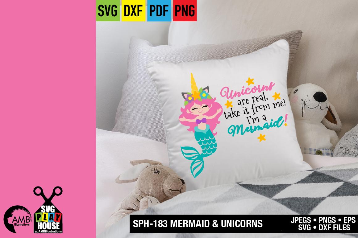 Mermaid and unicorns svg SPH-183 example image 3