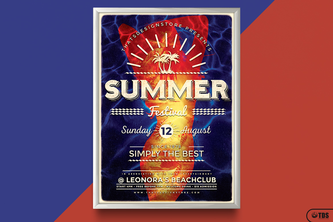Summer Fest Flyer Template V3 example image 6