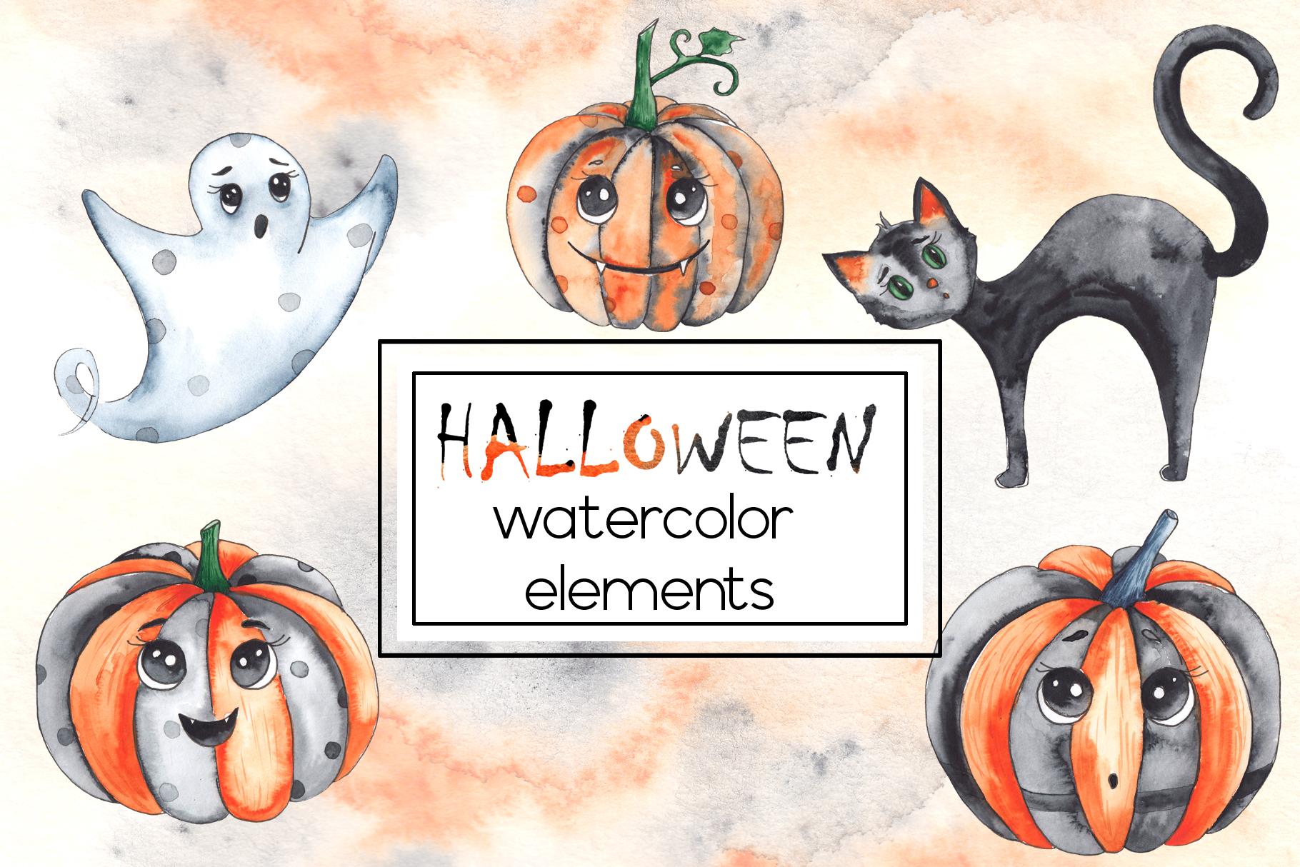 Watercolor autumn BUNDLE example image 25