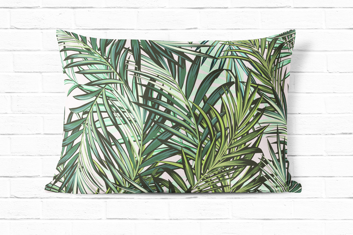 Palm leaves vector seamless pattern example image 4