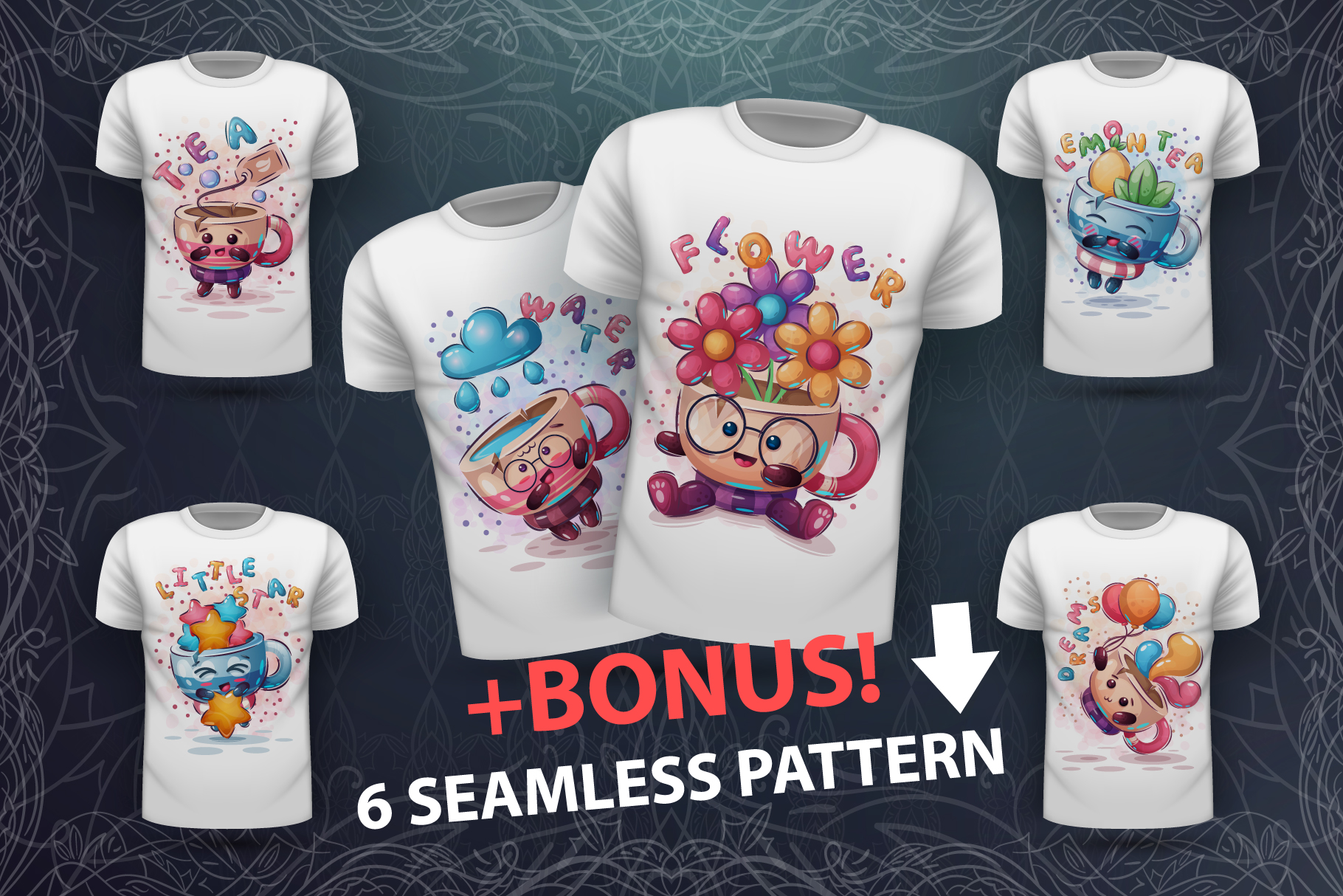 Cute cups - idea for print t-shirt example image 1