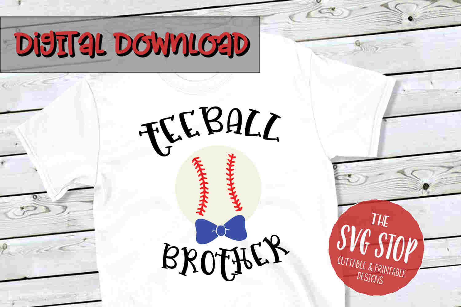 Teeball Brother -SVG, PNG, DXF example image 1