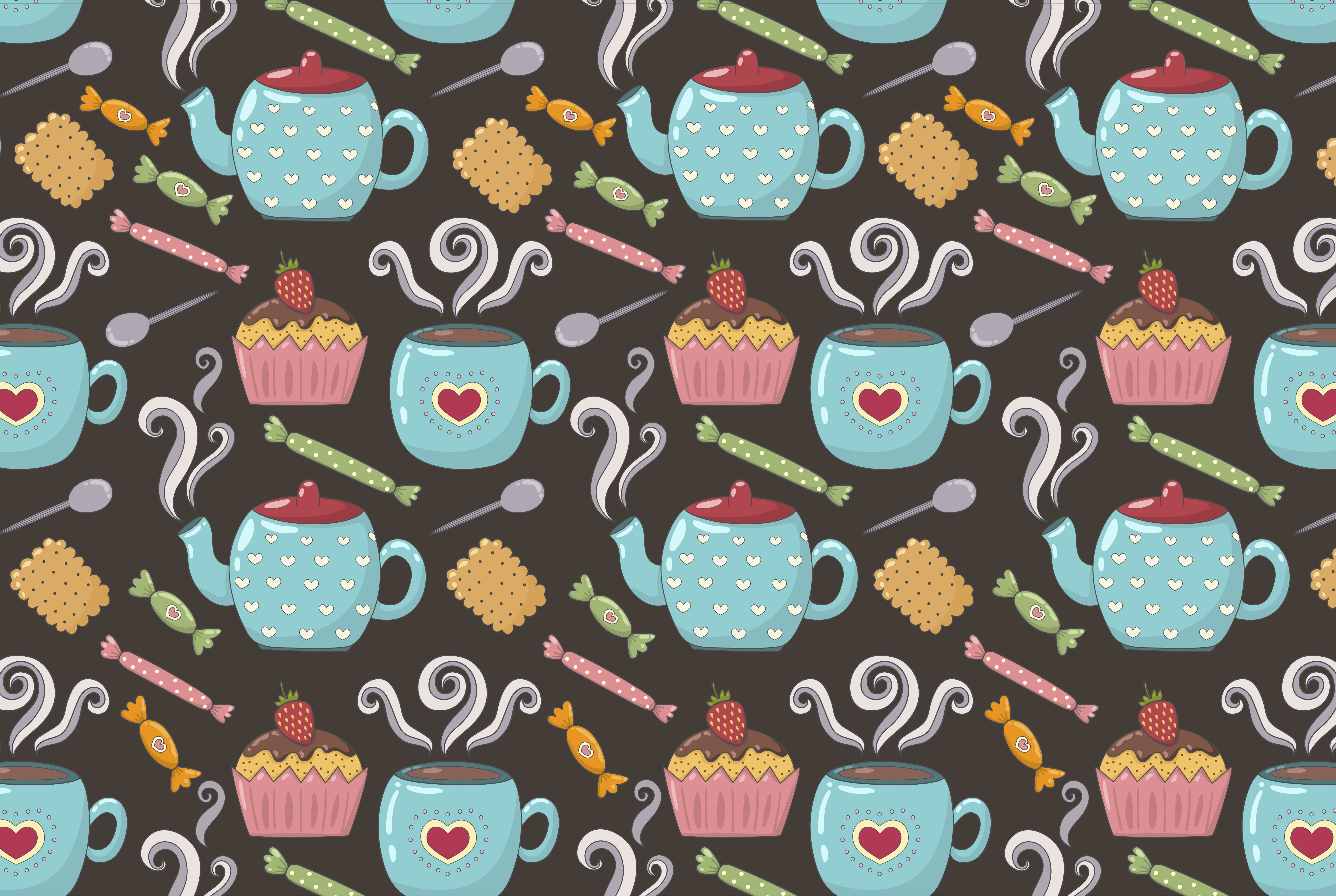 Tea Time: pattern & elements example image 3