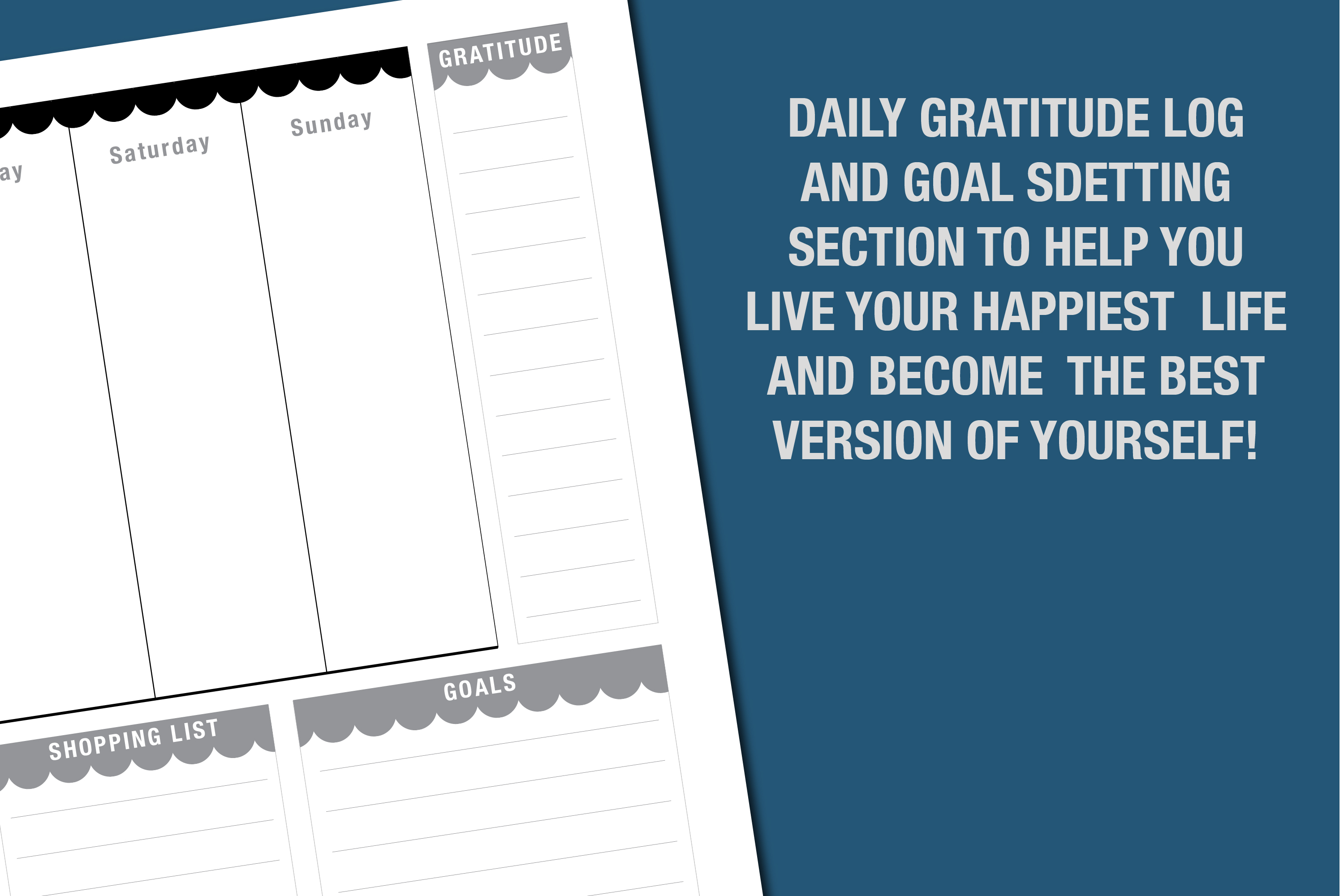 Planner Printable - Vertical Day Column Weekly agenda example image 8