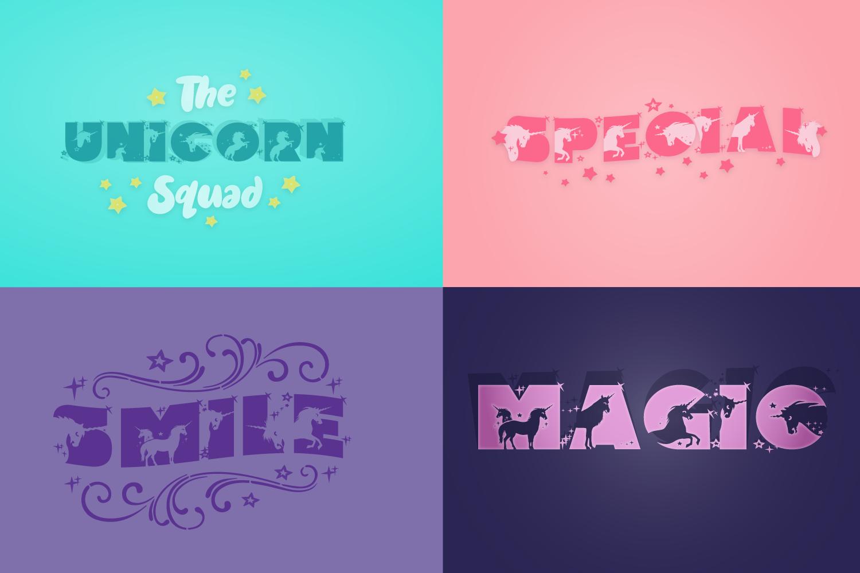 Unicorn Font | Unicorn Smiles Layered Font and Bonus Files example image 8