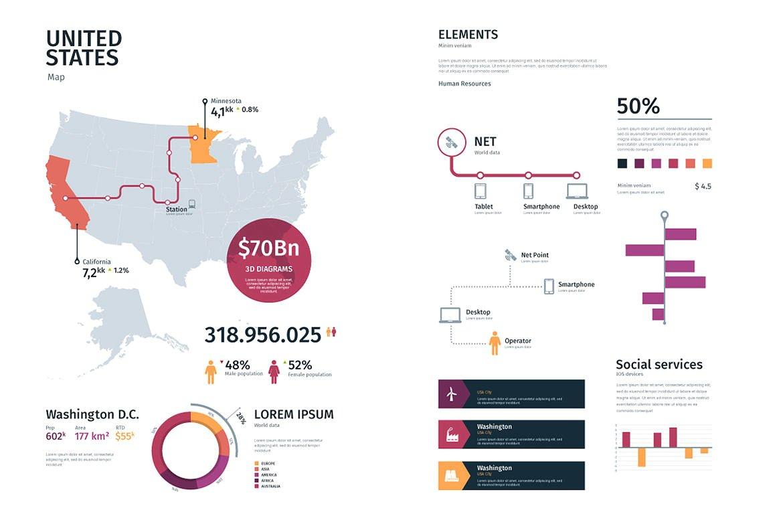 Modern infographics vol.01 example image 5