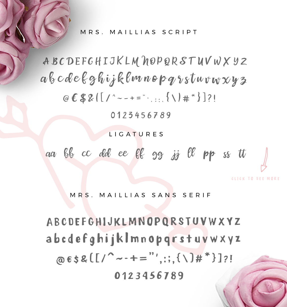 Mrs Maillias Duo Font & Doodles example image 2