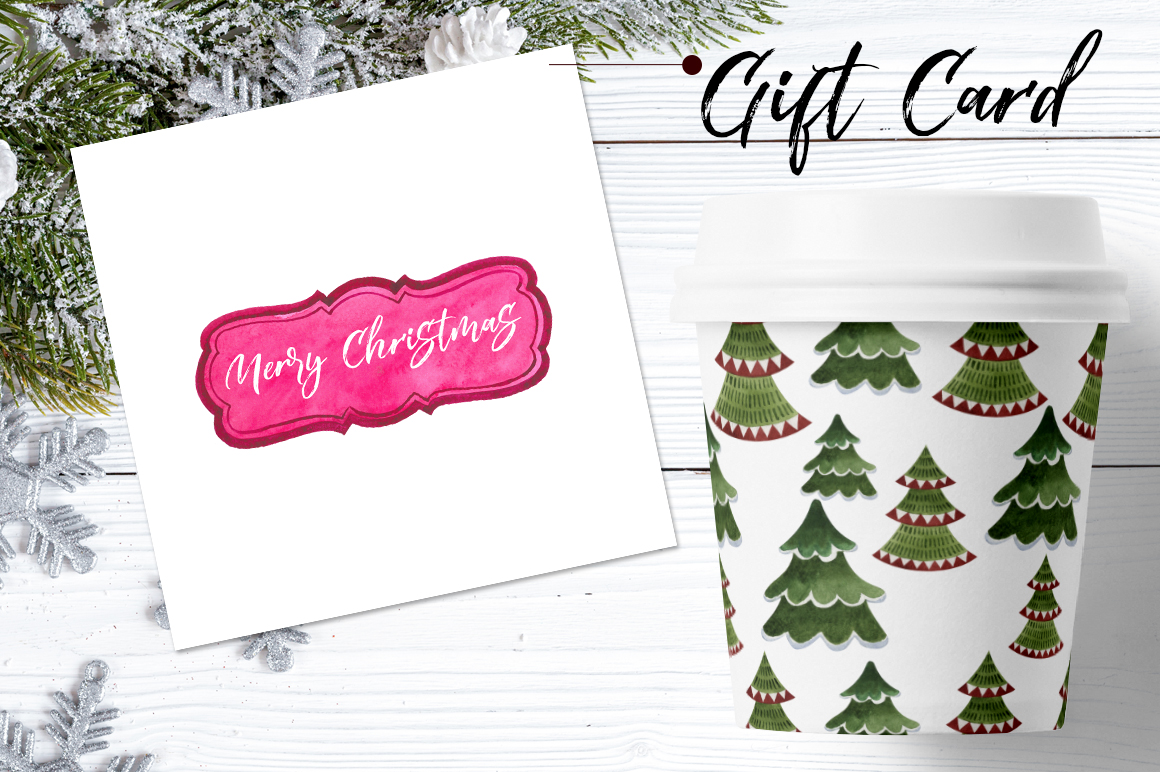 Gift labels PNG watercolor set example image 2