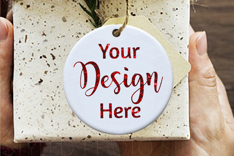 Ceramic Christmas Ornament Mockup Gift Box example image 2