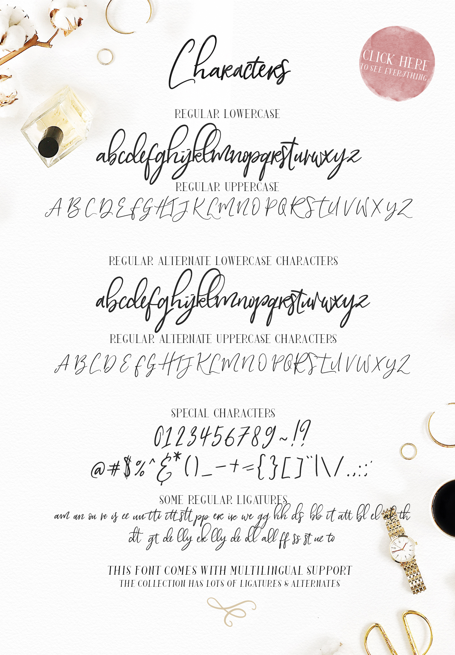 My Beloved ~ Script & Serif Font example image 15