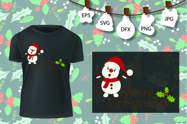 Snowman SVG , Christmas Shirt SVG , Winter Wonderland Svg example image 2