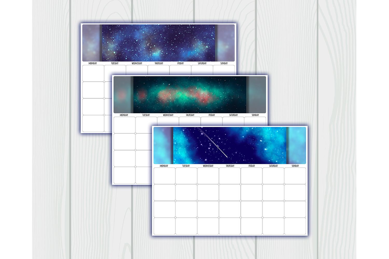 Undated printable calendar planner. 12 Months. Sunday, Mond example image 4