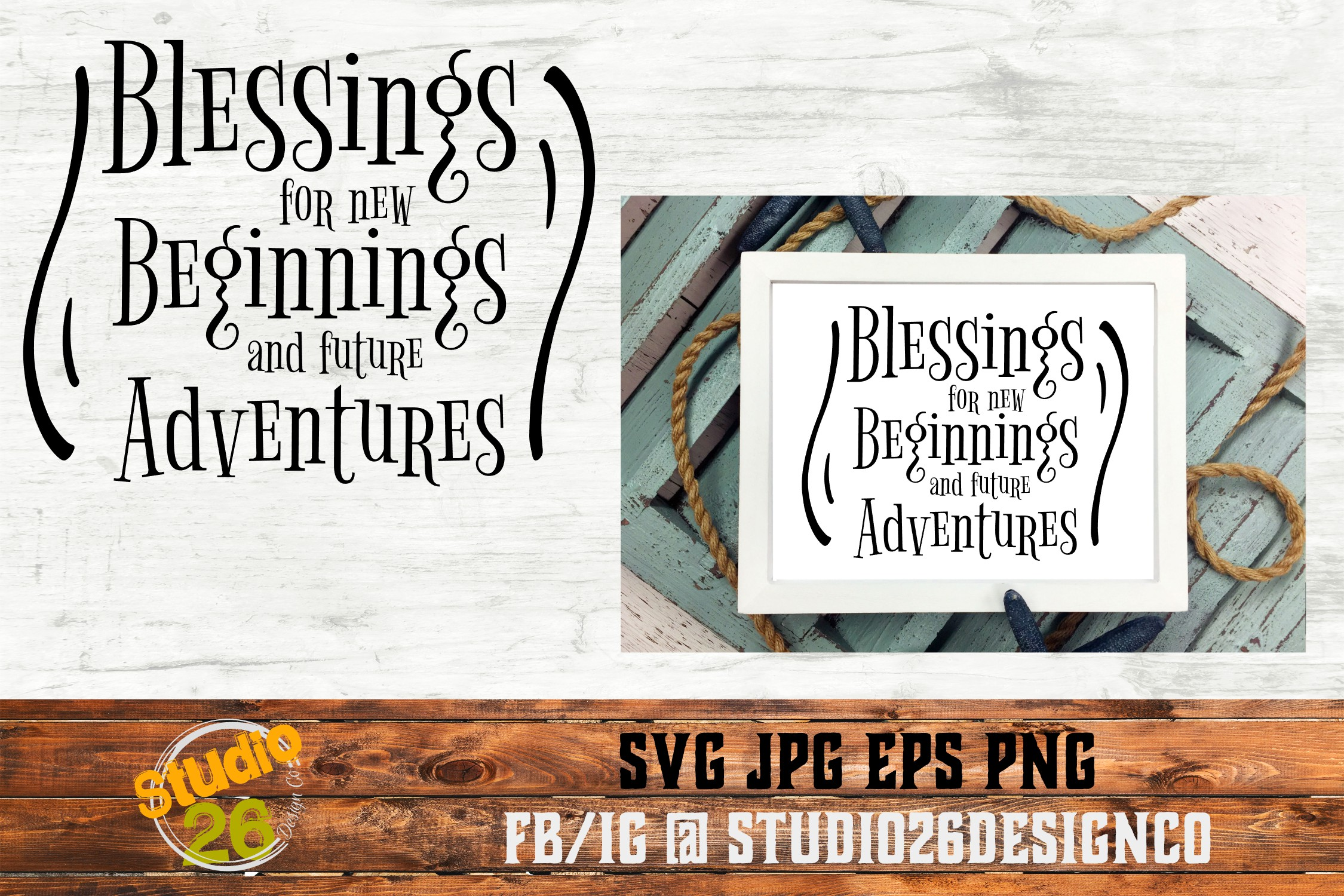 Blessings for new beginnings - SVG EPS PNG example image 1