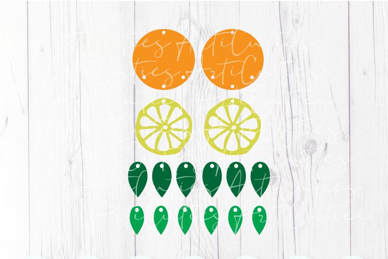 Orange earrings template SVG, DIY earrings template example image 2