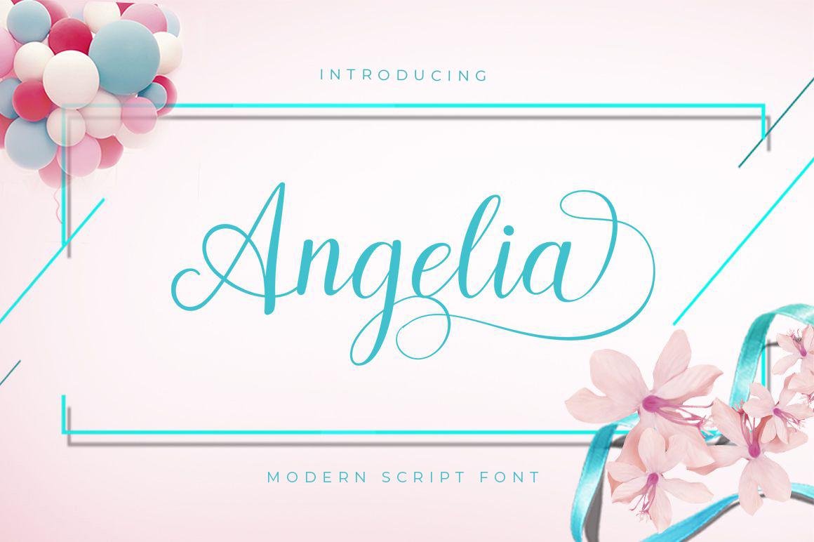 Angelia Script example image 3
