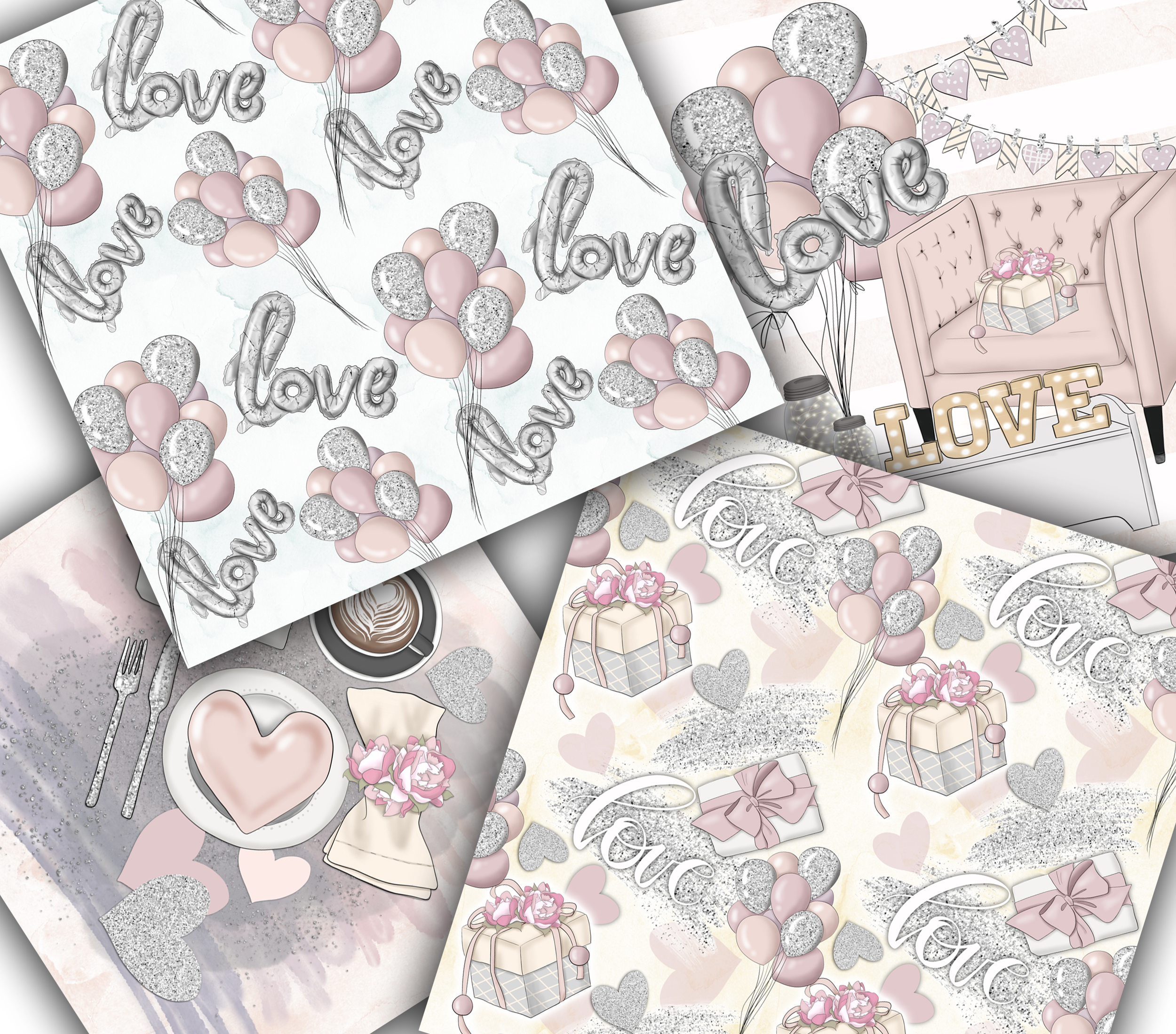All You Need Is Love Graphic Design KIt example image 10