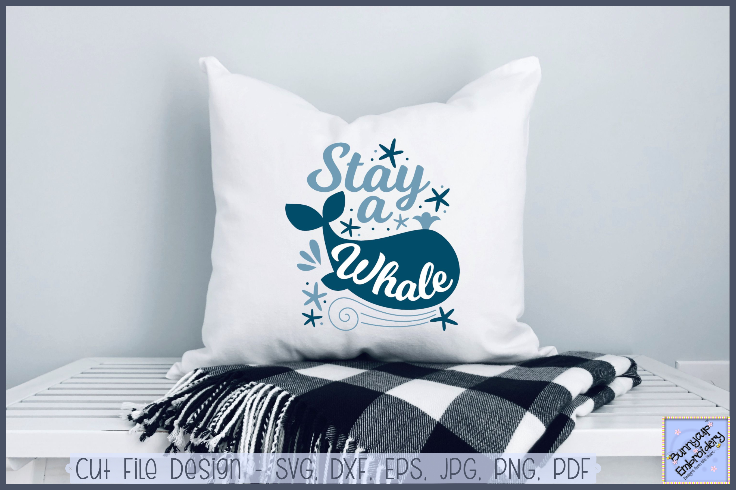 Stay A Whale - SVG, Clipart, Printable example image 1