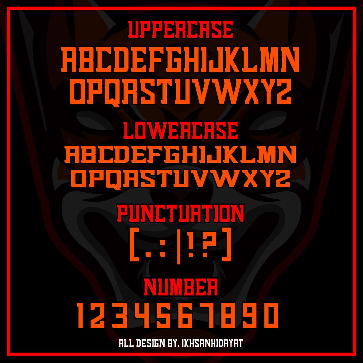 Alenikh Esports Font Logo example image 5