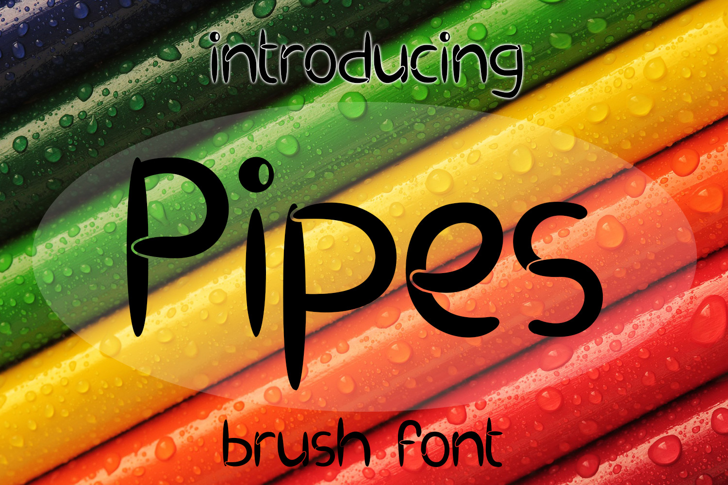 EP Pipes - Brush Font example image 1