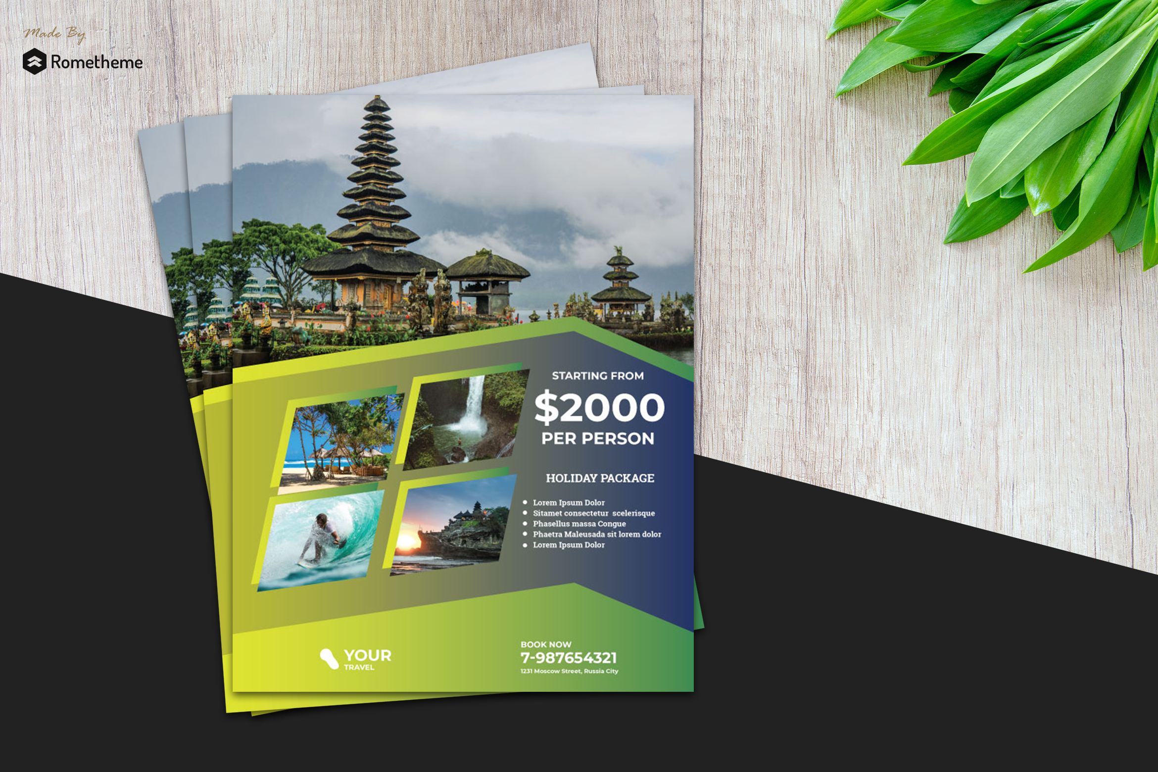 Holiday Travel Flyer vol. 05 example image 1