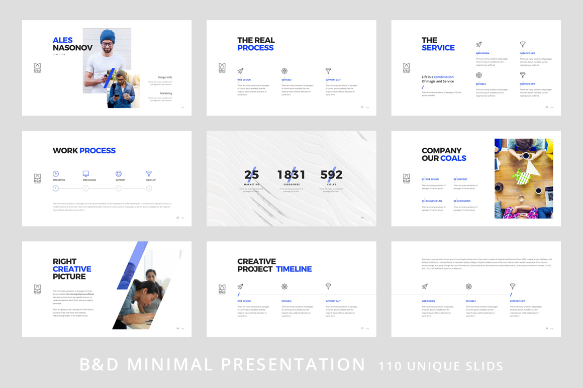 B&D-Powerpoint & Keynote Template example image 4
