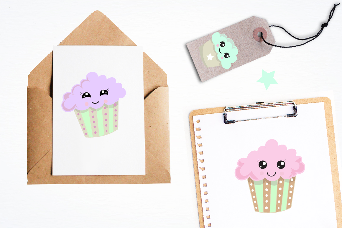 Cutie Cupcakes graphics and illustrations example image 4