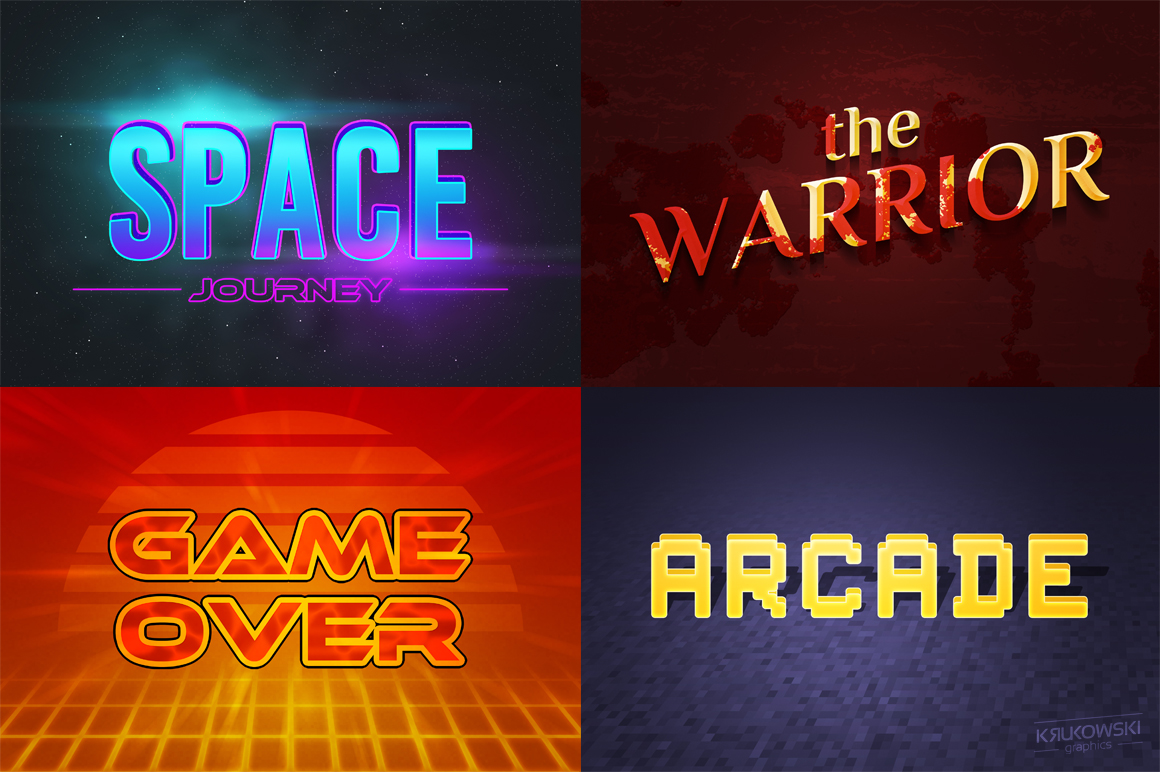 Video Games Text Effects Mockup example image 3