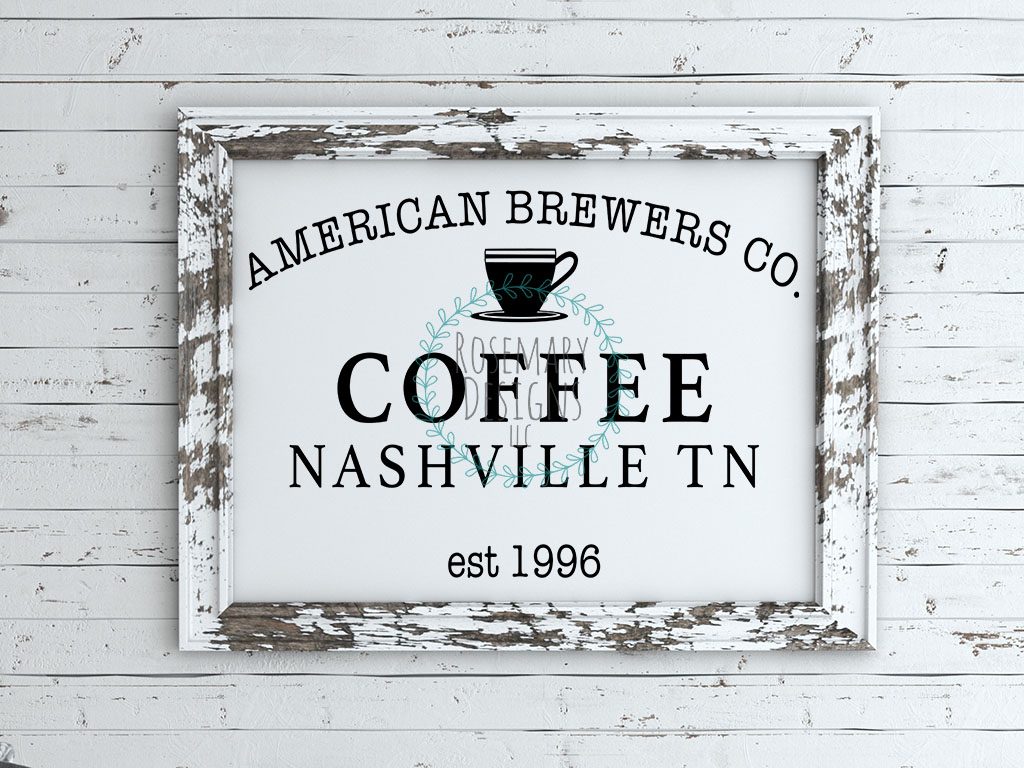 American Brewers Co - Vintage Sign SVG example image 1