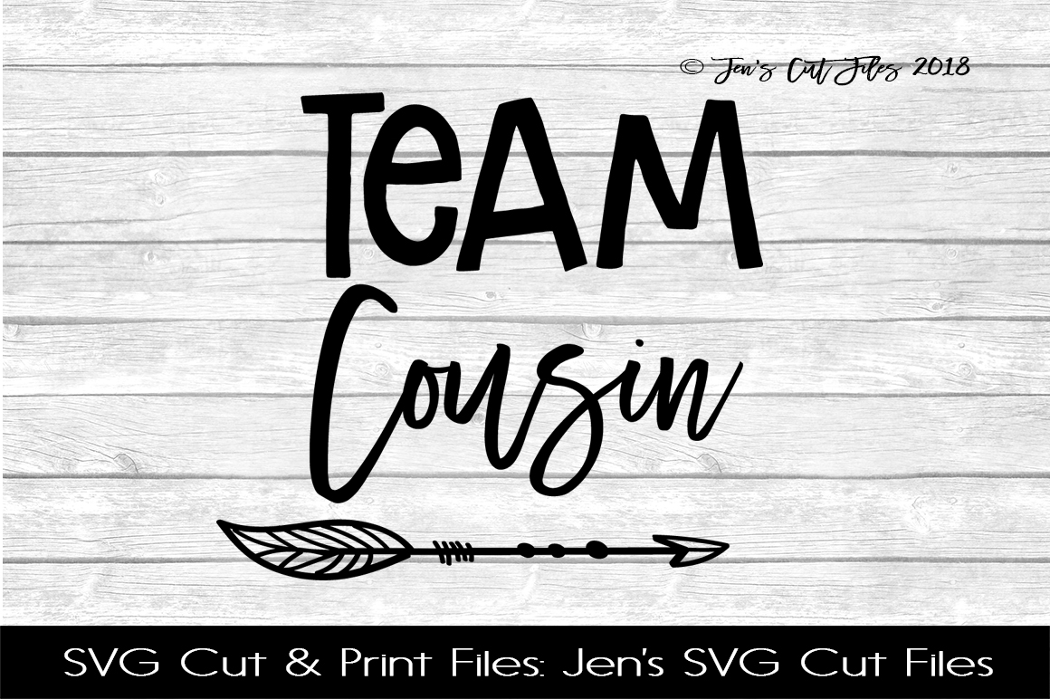 Team Cousin SVG Cut File example image 1