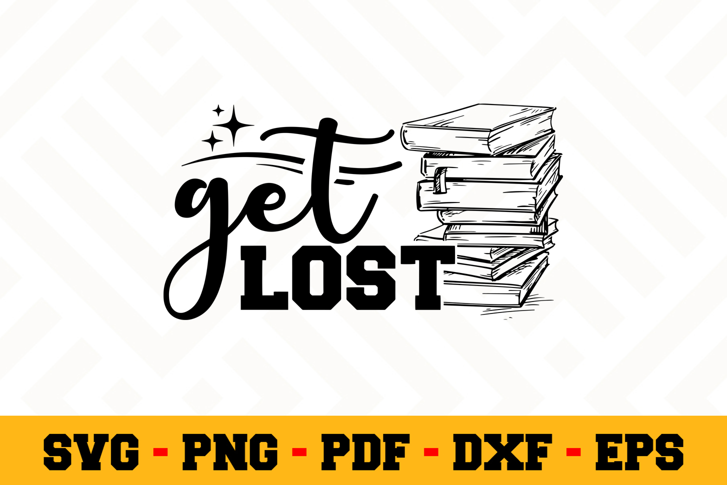 Book Lover SVG Design n622| Reading SVG Cut File example image 1