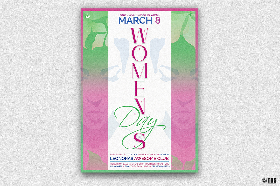 Womens Day Flyer Template V2 example image 2