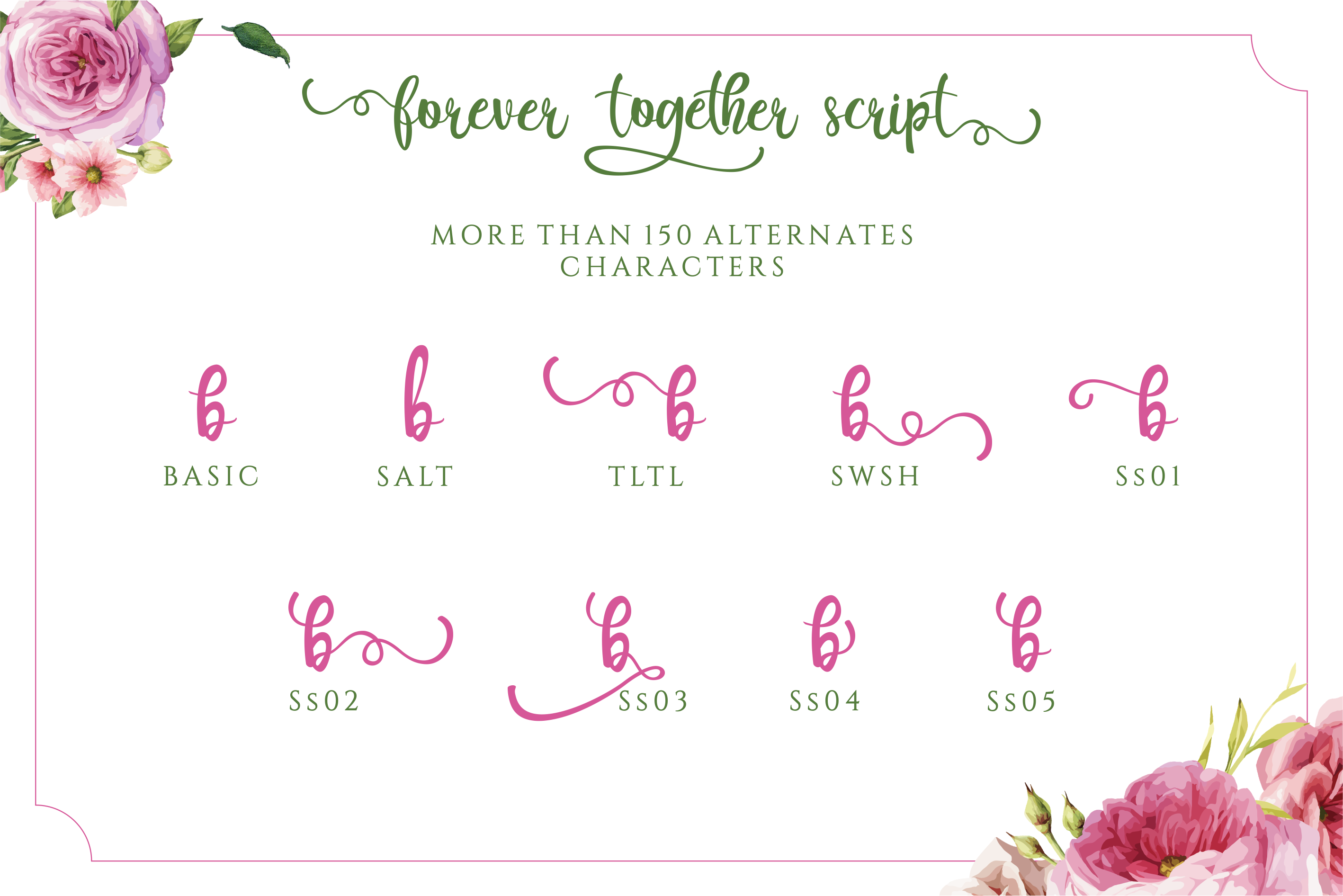 Forever Together - Romantic Font Duo example image 5
