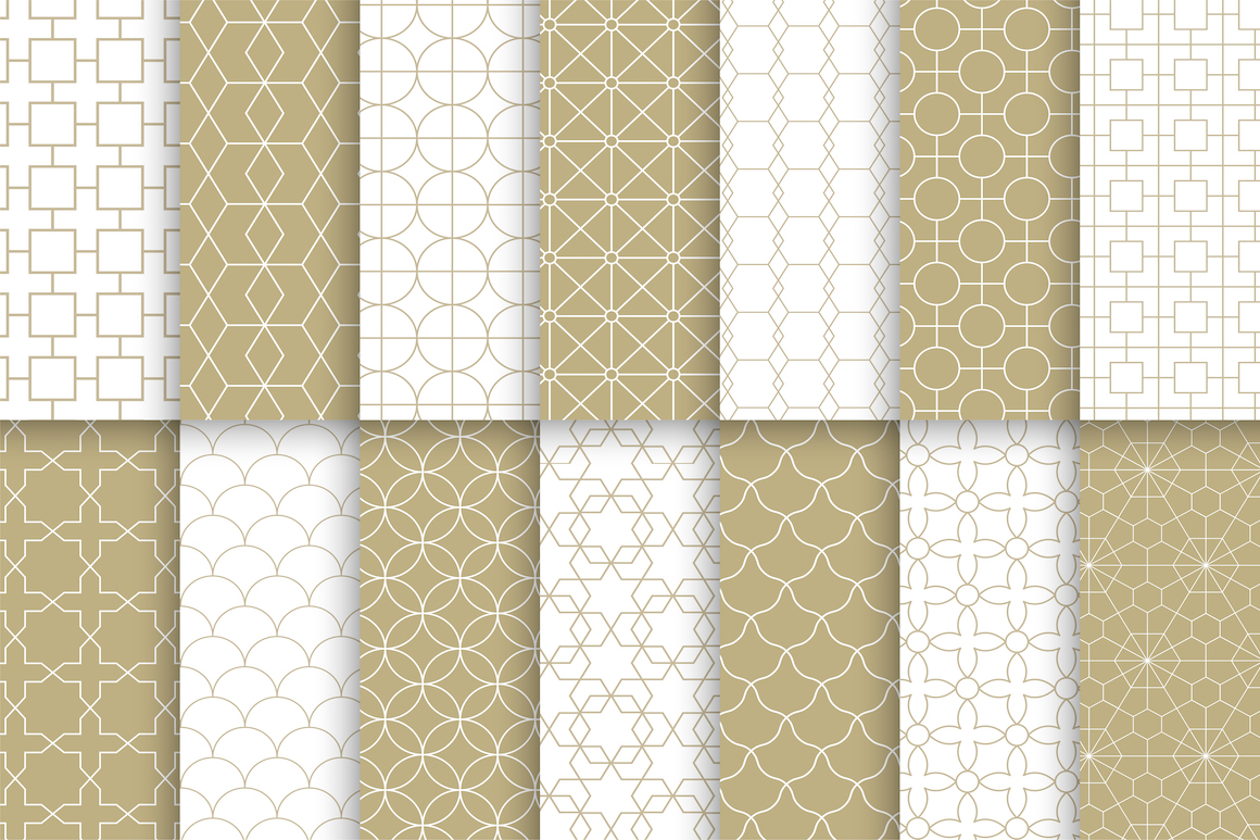 Vector ornamental seamless patterns example image 2