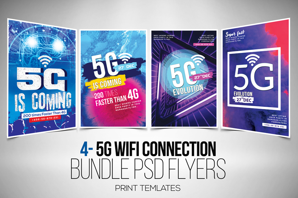 5G Flyer Template Bundle example image 1