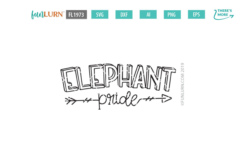 Elephant Pride Team SVG Cut File example image 2