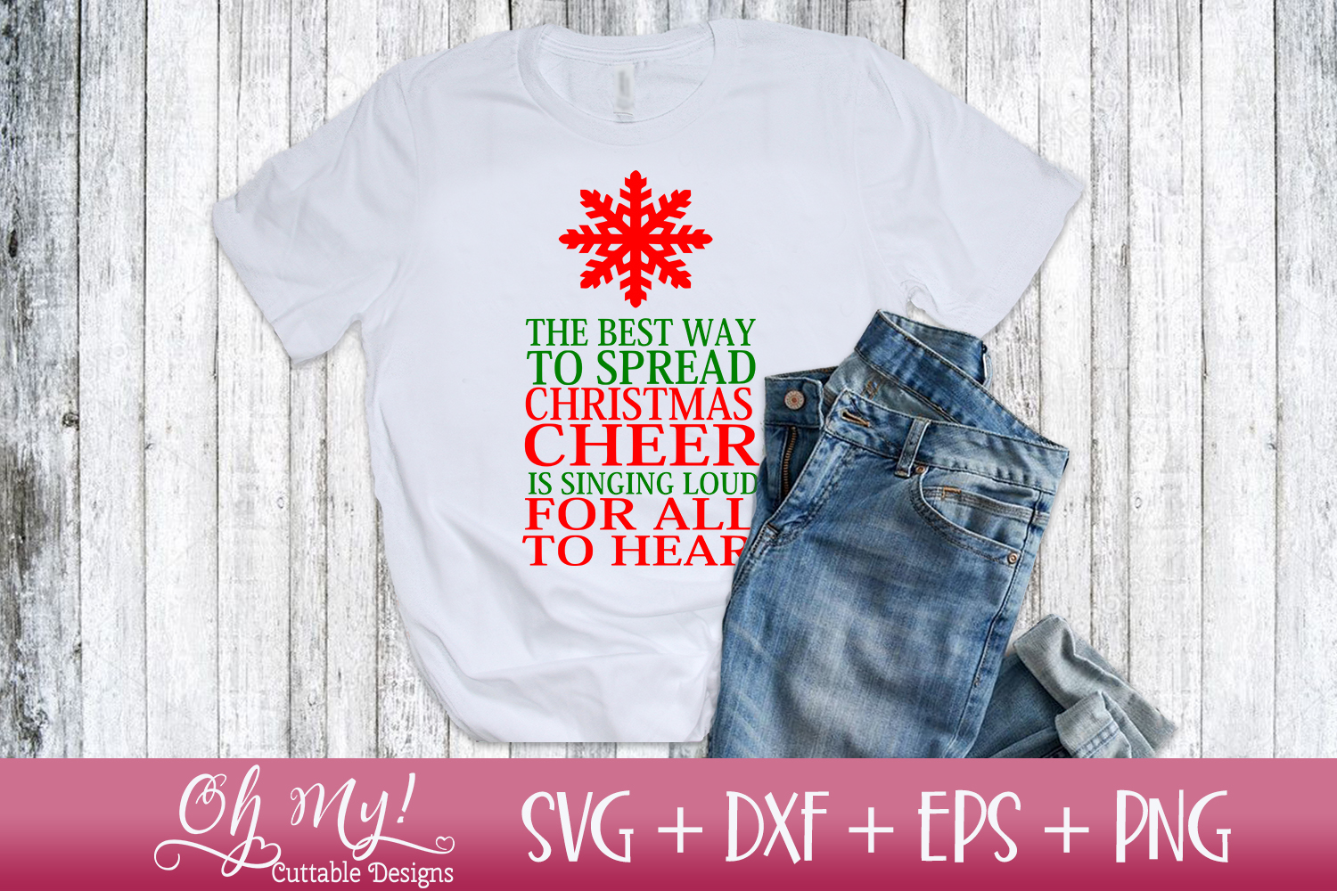 Spread Christmas Cheer - SVG DXF EPS PNG Cutting File example image 2
