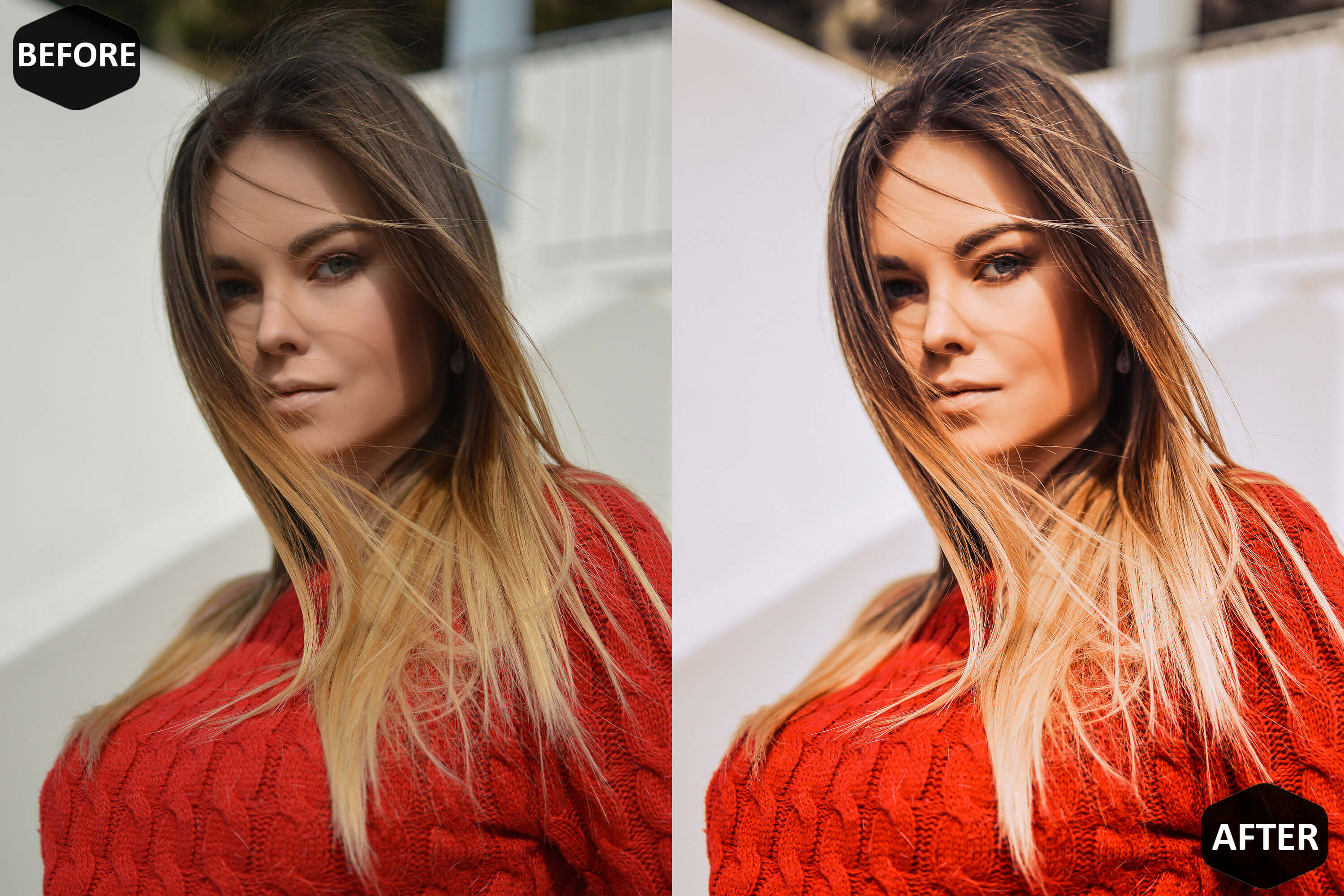 Red Blogger Photoshop Actions And ACR Presets example image 9