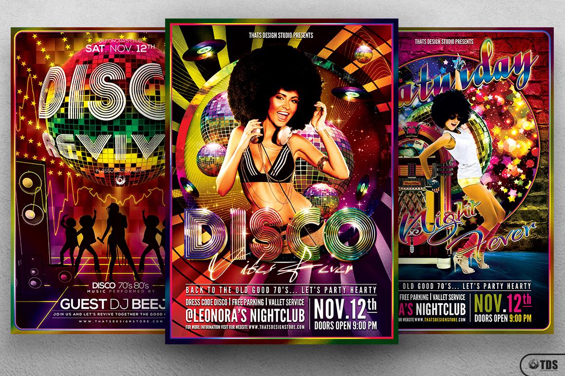 Disco Music Flyer Bundle V1 example image 3