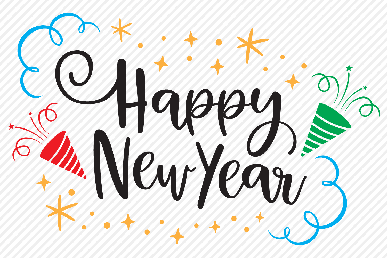 Happy New Year SVG, Cut File, Happy New Year's Shirt Design example image 2