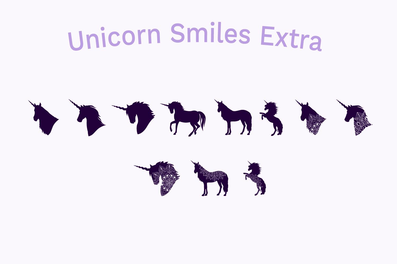 Unicorn Font | Unicorn Smiles Layered Font and Bonus Files example image 7