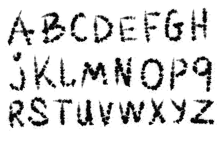 Blotch vector font example image 1