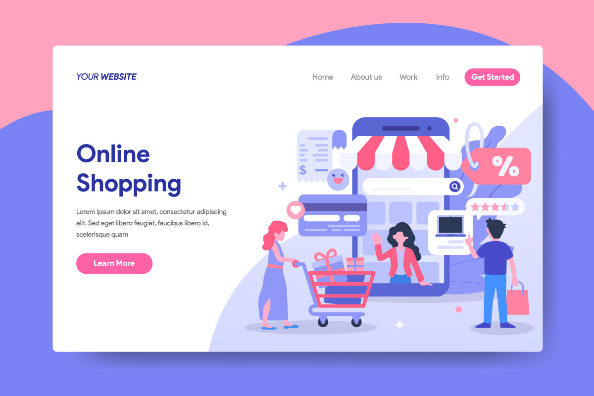 Online Shopping Illustration for Landing Page example image 1