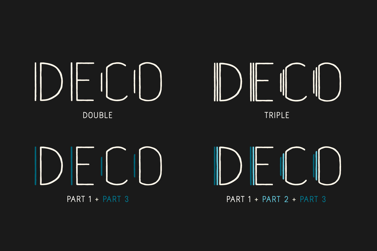 Naive Deco Sans Family example image 3