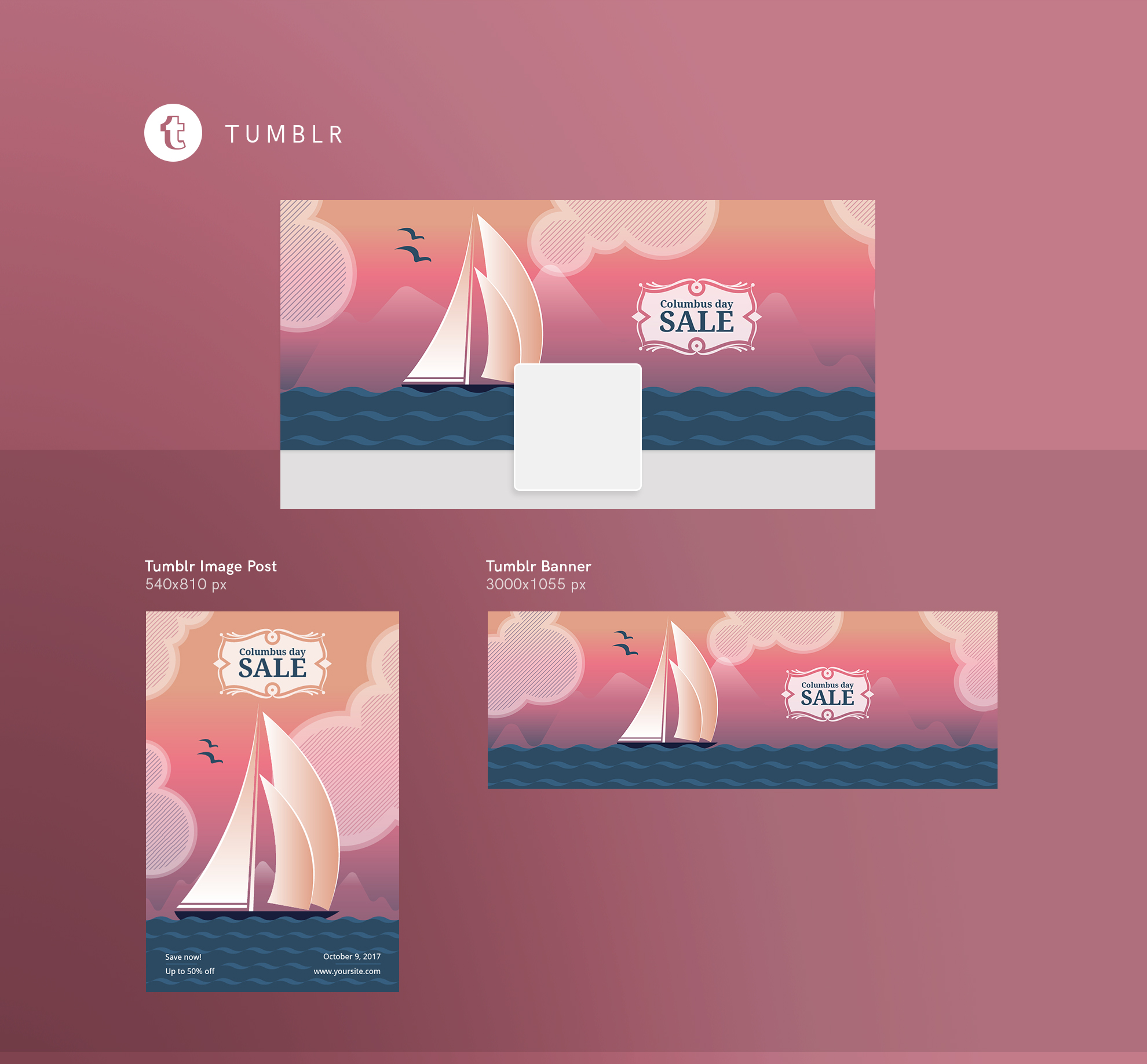 Columbus Day Sale Design Templates Bundle example image 13