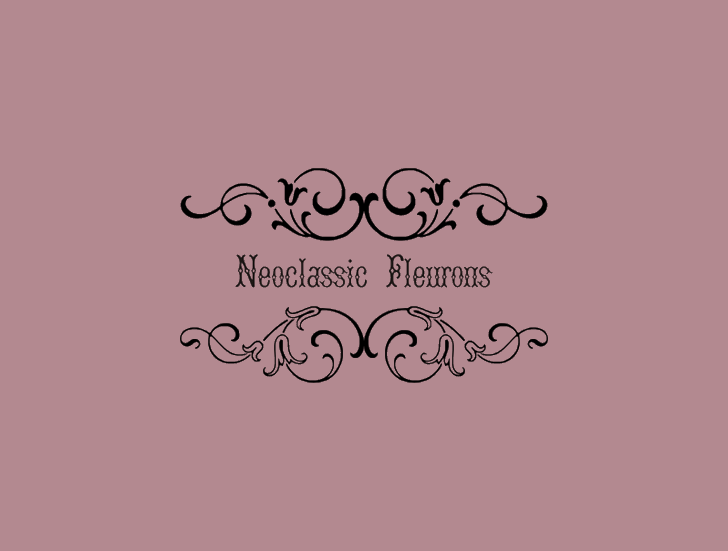 Neoclassic Fleurons example image 1