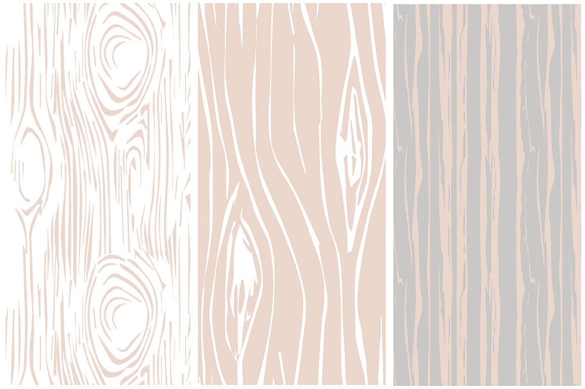 Woodgrain Seamless Vector Patterns example image 2