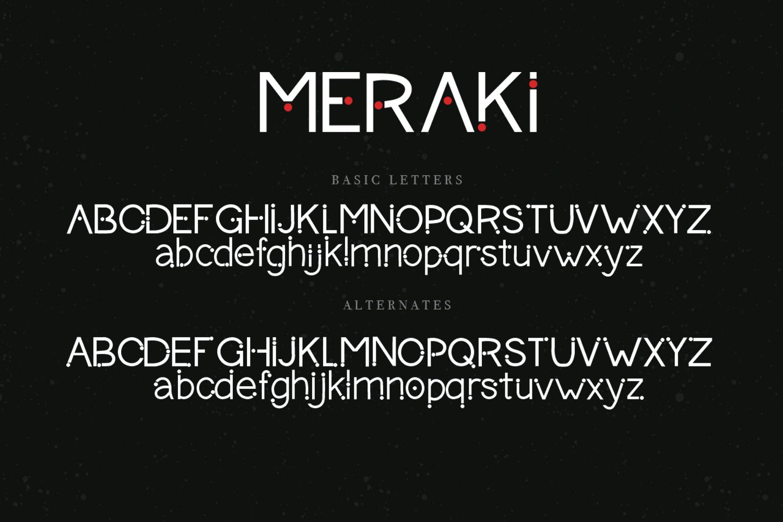 Meraki font example image 8