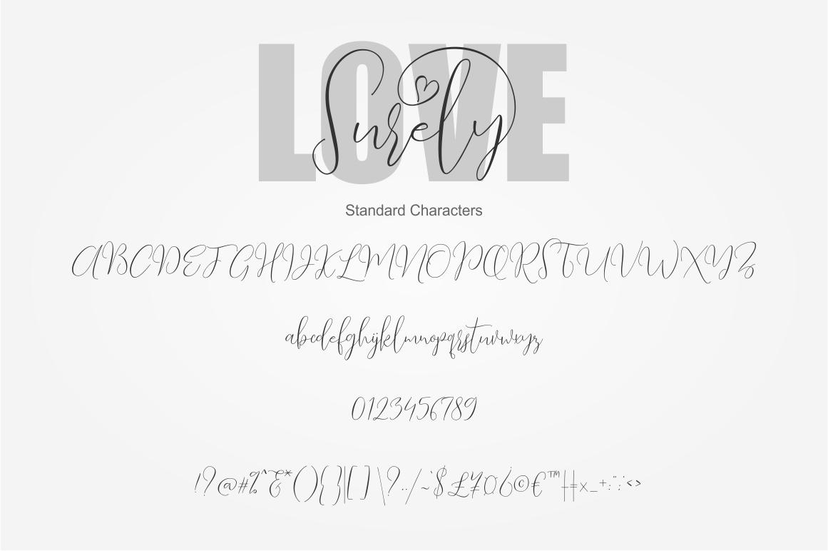Love Surely | Handwritten Script example image 2