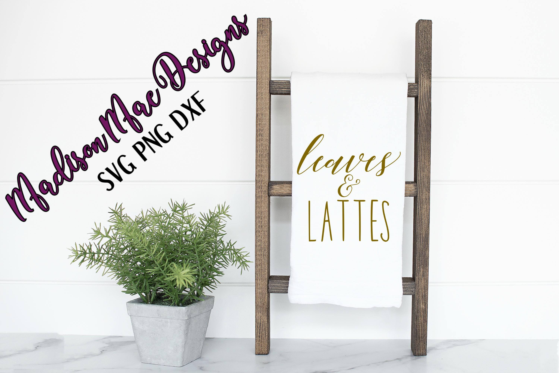 Leaves & Lattes Fall SVG Digital Cut File example image 5